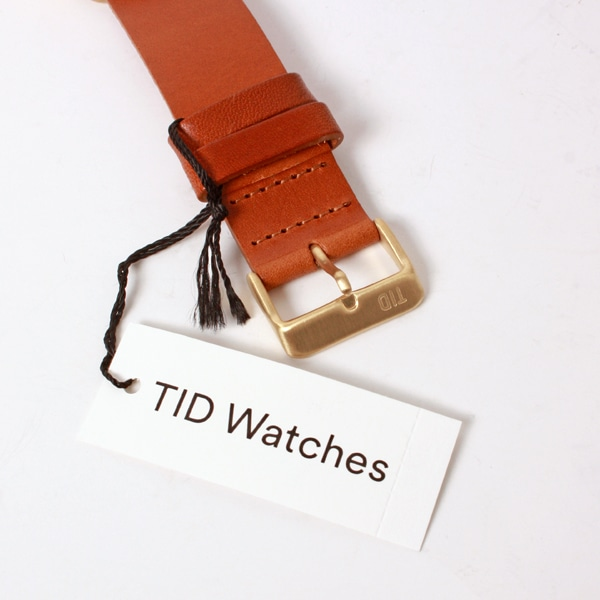 TID Watches ティッド ウォッチ No.1 GOLD + Leather Wristband 40mm 【国内正規品】 腕時計 TID01-GD/T