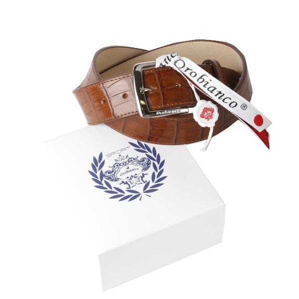 Orobianco(オロビアンコ) Orobianco オロビアンコ レザーベルト OBS-711020 T-MORO(ダークブラウン)【ファッション・アパレル 服飾小物メンズベルトOrobianco】【TiCTAC】チックタックオンラインストア