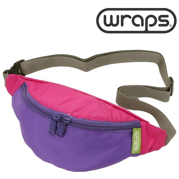 WRAPS(ラップス) 【SALE】WRAPS ラップス WRP358232-531 BANANA BAG ミニショルダー ピンク×パープル【ファッション・アパレル ユニセックスショルダーバッグWRAPS】【TiCTAC】チックタックオンラインストア