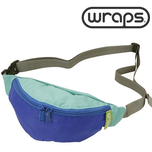 WRAPS(ラップス) 【SALE】 WRAPS ラップス WRP358232-576 BANANA BAG ミニショルダー ミントグリーン×ブルー【ファッション・アパレル ユニセックスショルダーバッグWRAPS】【TiCTAC】チックタックオンラインストア