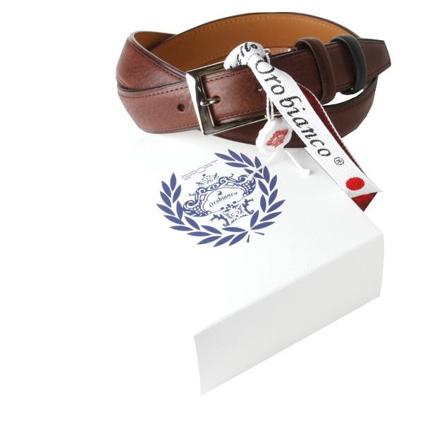 Orobianco(オロビアンコ) Orobianco オロビアンコ レザーベルト OBS-010011 T-MORO(ダークブラウン)【ファッション・アパレル 服飾小物メンズベルトOrobianco】【TiCTAC】チックタックオンラインストア