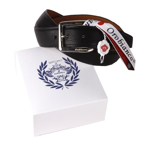 Orobianco(オロビアンコ) Orobianco オロビアンコ レザーベルト OBS-013012 BLACK【ファッション・アパレル 服飾小物メンズベルトOrobianco】【TiCTAC】チックタックオンラインストア