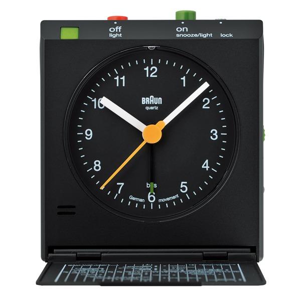 BRAUN(ブラウン) BRAUN ブラウン Travel alarm clock ブラック 国内正規品 BNC005BK【インテリア雑貨置時計BRAUN】【TiCTAC】チックタックオンラインストア