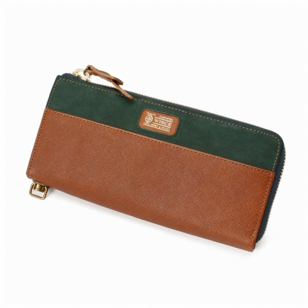 WISCE(ワイス) WISCE ワイス EMBOSSING LEATHER LONG WALLET  レザー ロングウォレット キャメル 031302 UNBY【ファッション・アパレル バッグメンズ財布WISCE】【TiCTAC】チックタックオンラインストア