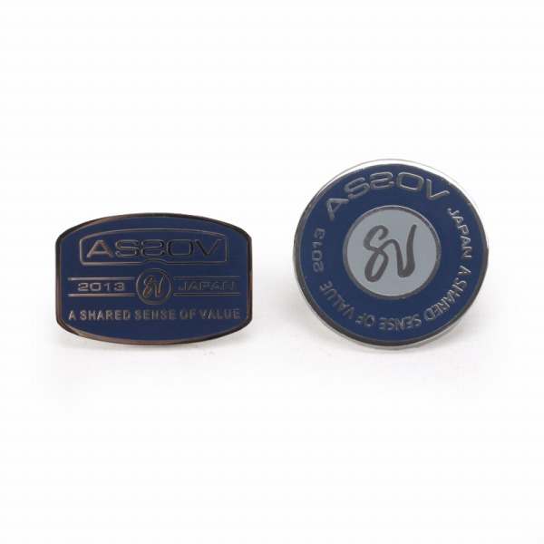 AS2OV(アッソブ) ASSOV アッソブ BRASS PINS ピンズ ブルー 051301 UNBY【ファッション・アパレル 服飾小物メンズタイピンAS2OV】【TiCTAC】チックタックオンラインストア