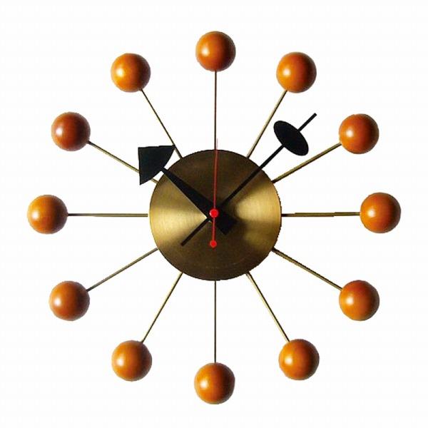 RETRO SERIES(レトロシリーズ) HERMOSA ハモサ ジョージネルソン BALL CLOCK ボールクロック 掛け時計 ゴールド LDEL-006【インテリア時計掛け時計RETRO SERIES】【TiCTAC】チックタックオンラインストア