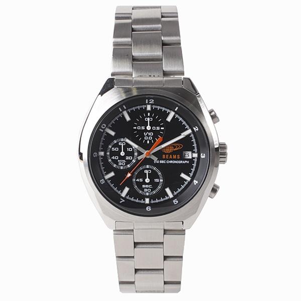 BEAMS ビームス【BEAMS×TiCTAC ビームス×チックタック コラボレーションモデル Chronograph クロノグラフ 腕時計 メンズ BEA01-SS/BK】【ジュエリー・腕時計 メンズBEAMS】【TiCTAC】チックタックオンラインストア