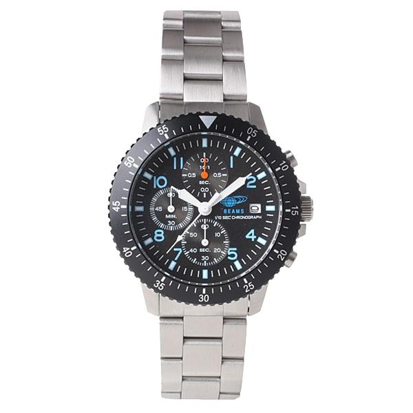 BEAMS ビームス【BEAMS×TiCTAC ビームス×チックタック コラボレーションモデル クロノグラフ 腕時計 BEA04-BK-M】【ジュエリー・腕時計 メンズBEAMS】【TiCTAC】チックタックオンラインストア