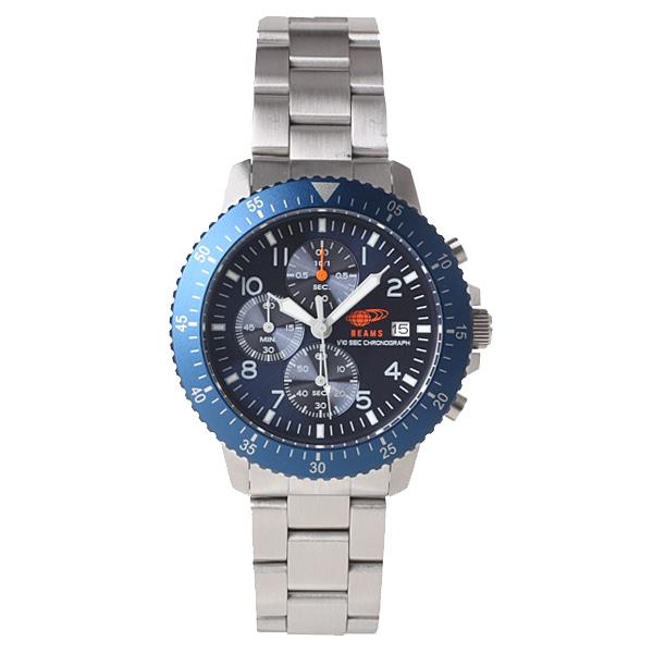 BEAMS ビームス【BEAMS×TiCTAC ビームス×チックタック コラボレーションモデル クロノグラフ 腕時計 BEA04-BL-M】【ジュエリー・腕時計 メンズBEAMS】【TiCTAC】チックタックオンラインストア