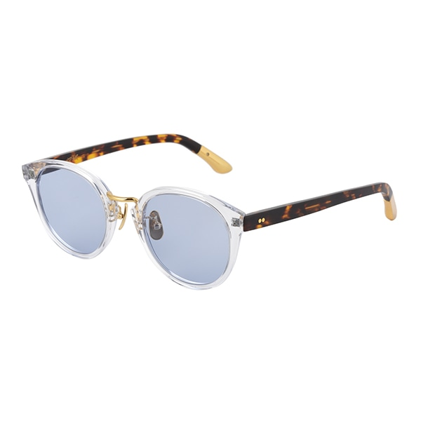 13:Clear & Havana Brown-Gold / Light Blue (Black)