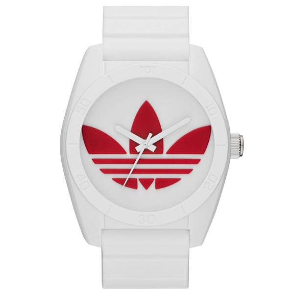 adidas アディダス【adidas アディダス SANTIAGO サンティアゴ 【国内正規品】 ユニセックス ホワイト×レッド ADH2980】【ジュエリー・腕時計 ユニセックスadidas】【TiCTAC】チックタックオンラインストア