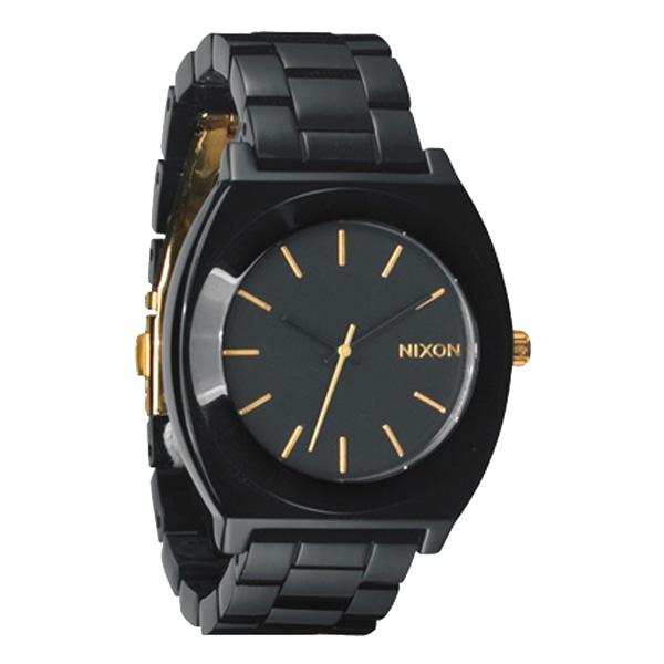 nixon ニクソン【NIXON ニクソン Time Teller Acetate タイムテラー アセテート All Black/Gold 腕時計 【国内正規品】 A3271031】【ジュエリー・腕時計 ユニセックスNIXON】【TiCTAC】チックタックオンラインストア