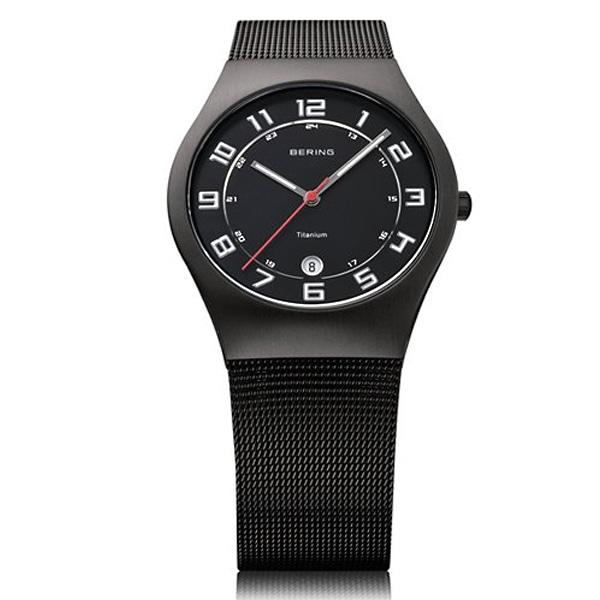 BERING ベーリング【BERING ベーリング Ultra Slim Titanium ウルトラ スリム チタニウム 腕時計 【国内正規品】 メンズ ブラック 11937-222】【ジュエリー・腕時計 メンズBERING】【TiCTAC】チックタックオンラインストア