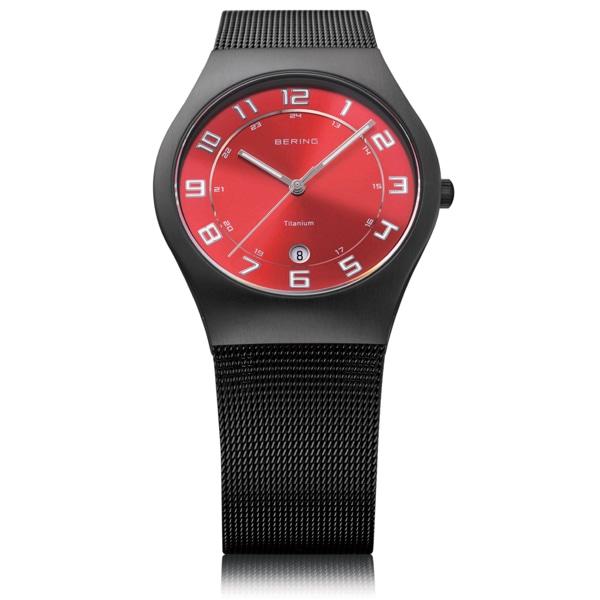 BERING ベーリング【BERING ベーリング Ultra Slim Titanium ウルトラ スリム チタニウム 腕時計 【国内正規品】 メンズ レッド 11937-229】【ジュエリー・腕時計 メンズBERING】【TiCTAC】チックタックオンラインストア