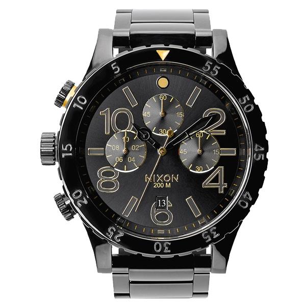 nixon ニクソン【NIXON ニクソン 48-20 Chrono 日本限定カラー オールブラック 腕時計 【国内正規品】 メンズ NA4862033】【ジュエリー・腕時計 メンズNIXON】【TiCTAC】チックタックオンラインストア