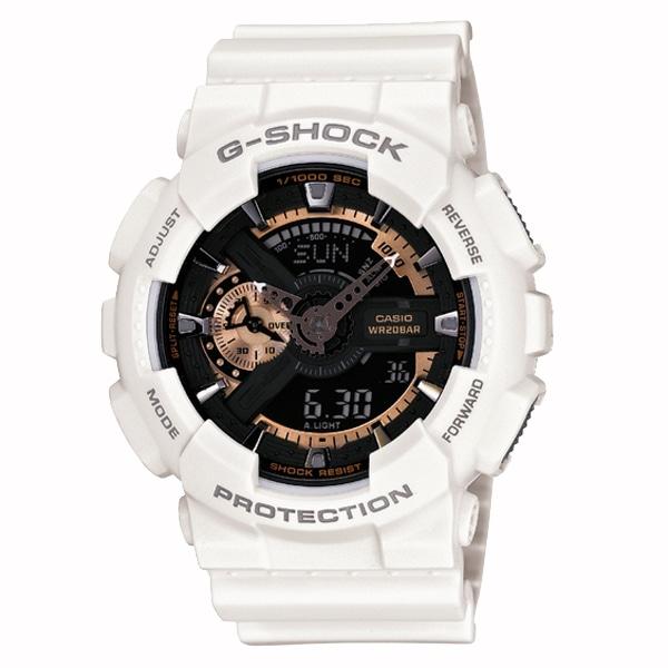 G-SHOCK ジーショック【G-SHOCK ジーショック CASIO カシオ Rose Gold ローズゴールド 【国内正規品】 腕時計 メンズ ホワイト/ローズゴールド GA-110RG-7AJF】【ジュエリー・腕時計 メンズG-SHOCK】【TiCTAC】チックタックオンラインストア