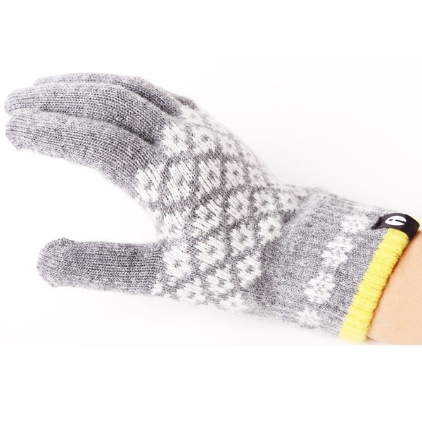 【SALE】iTouch Gloves アイタッチグローブ Patterns タッチパネル対応 手袋 Grey iTG-015-LGY/Ssize