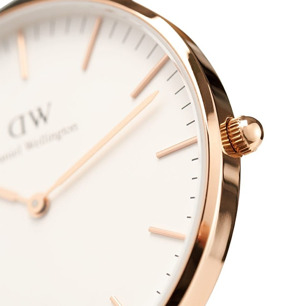 Daniel Wellington ダニエル・ウェリントン CLASSIC ST MAWES 36mm Rose Gold White  DW00100035