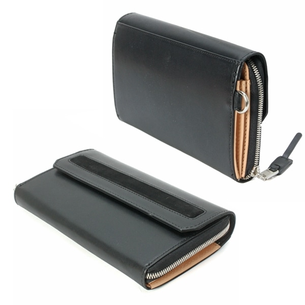 AS2OV アッソブ VACCHETTA LEATHER WALLET 財布 Navy 101501