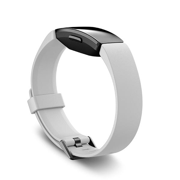 White//Black Fitbit Inspire HR Fitness Tracker