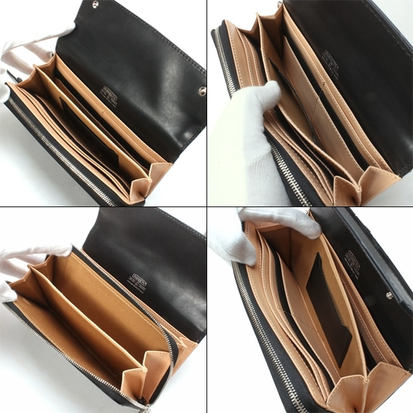 AS2OV アッソブ VACCHETTA LEATHER WALLET 財布 Black 101501