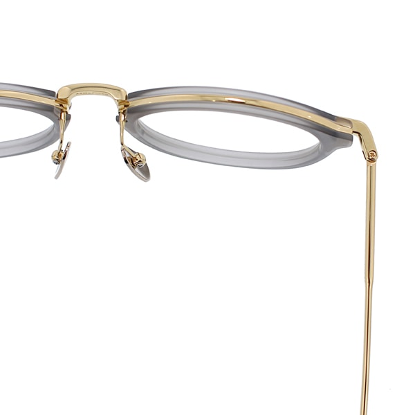 THOM BROWNE トムブラウン TB-011-G(SATIN GREY CRYSTAL/18k GOLD)   49size   眼鏡 メガネ