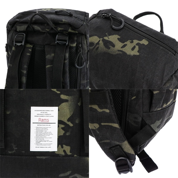 Rams ラムス Backpack バックパック RAMX-001 Camo/Black