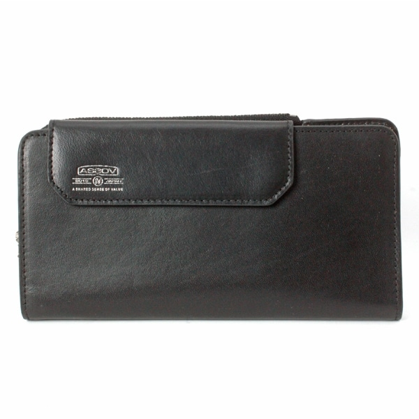 AS2OV アッソブ LEATHER MOBILE LONG WALLET Black 081600