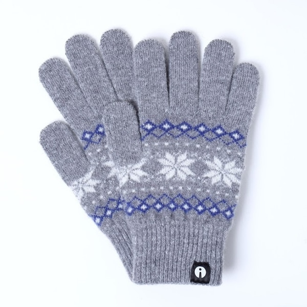 【SALE】iTouch Gloves アイタッチグローブ Patterns ジャガード タッチパネル対応 手袋 グレー iTG-013-GY/Ssize