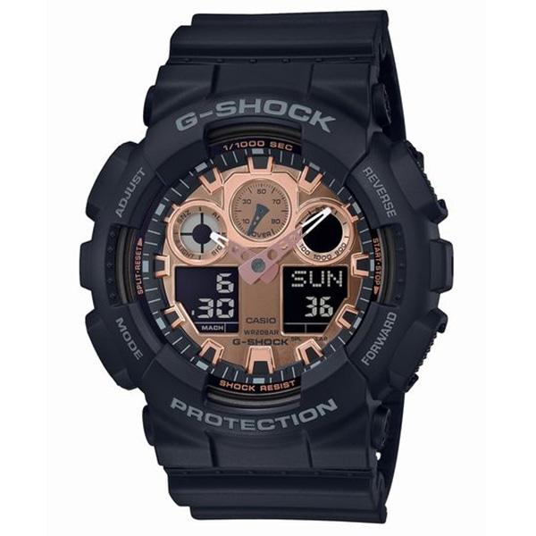 b926952016 G-SHOCK ジーショック CASIO カシオ ブラック×ローズゴールド 腕時計 GA-100MMC-