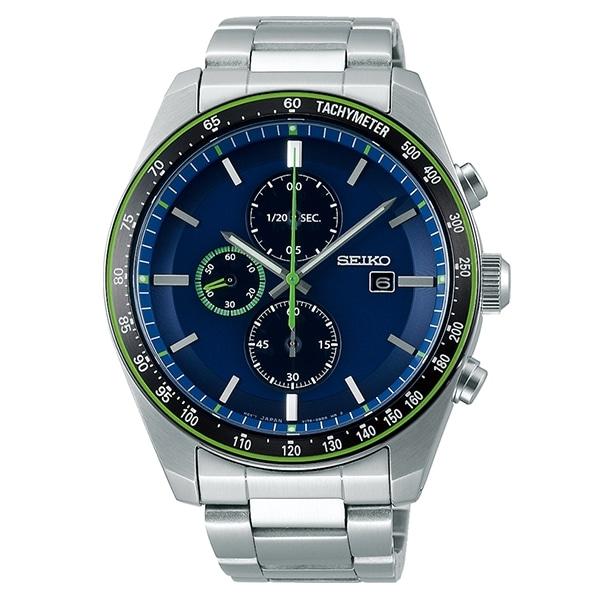 9d2da54916 SEIKO SELECTION セイコーセレクション アスレジャー ソーラー クロノ 腕時計 メンズ SBPY145