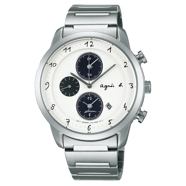 01bc0f468b アニエスベー メンズ クロノグラフ 手書きアラビア数字 【代引き手数料無料】 【送料無料】 agnes b. HOMME マルチェロ MARCELLO  腕時計 FBRW992
