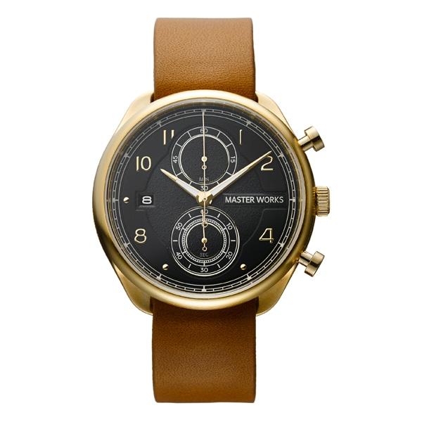 MASTER WORKS マスターワークス Quattro 002 クアトロ クロノグラフ 腕時計 メンズ MW07YB-EDLBO8