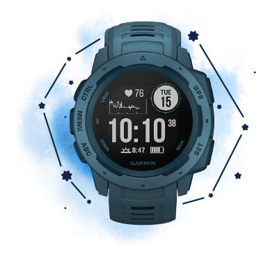 GARMIN ガーミン Instinct Lakeside Blue  GPS スマートウォッチ 010-02064-52